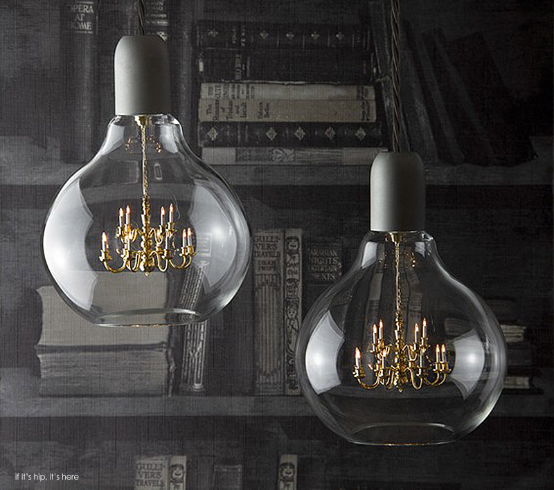 glass bulb chandelier vintage two grey in situ iihih mini chandelier inside glass bulb makes for one unusual pendant lamp