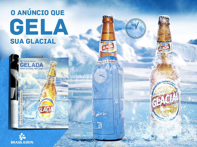 This Latest Innovative Print Ad For Glacial Beer Will