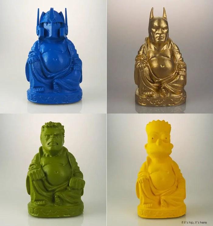 Zen Optimus Prime, Batman, Bart and Hulk