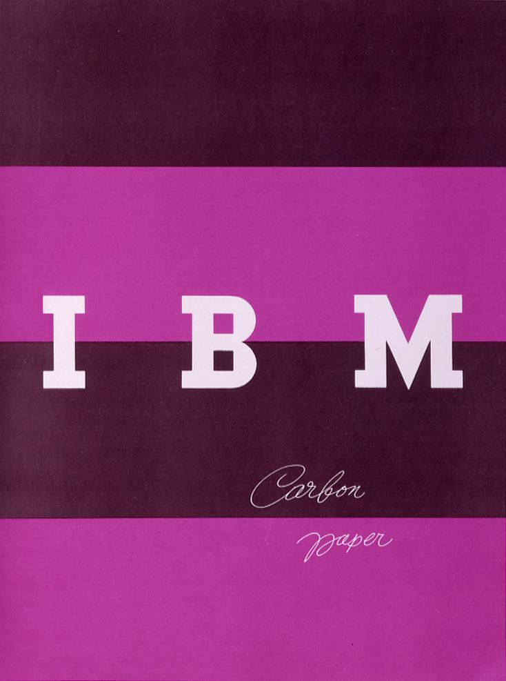 Brochure for IBM carbon paper, designed by Paul Rand ~ Courtesy of IBM Corporate Archives