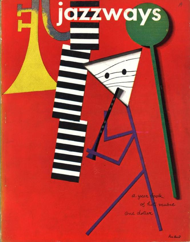 Jazzways magazine, Volume 1, 1946, with cover design by Paul Rand ~ Private Collection