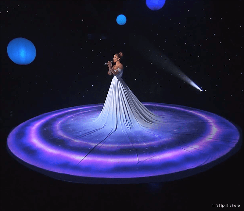 jennifer lopez projection dress
