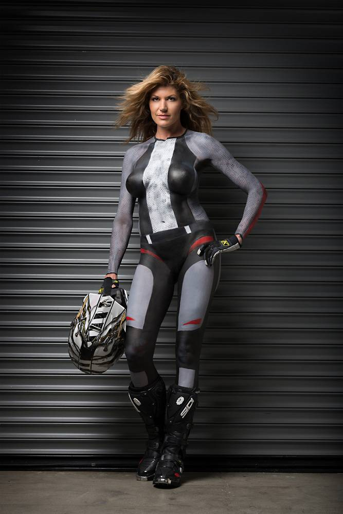 Celeb Nude Body Art On Motorcycle Jpg
