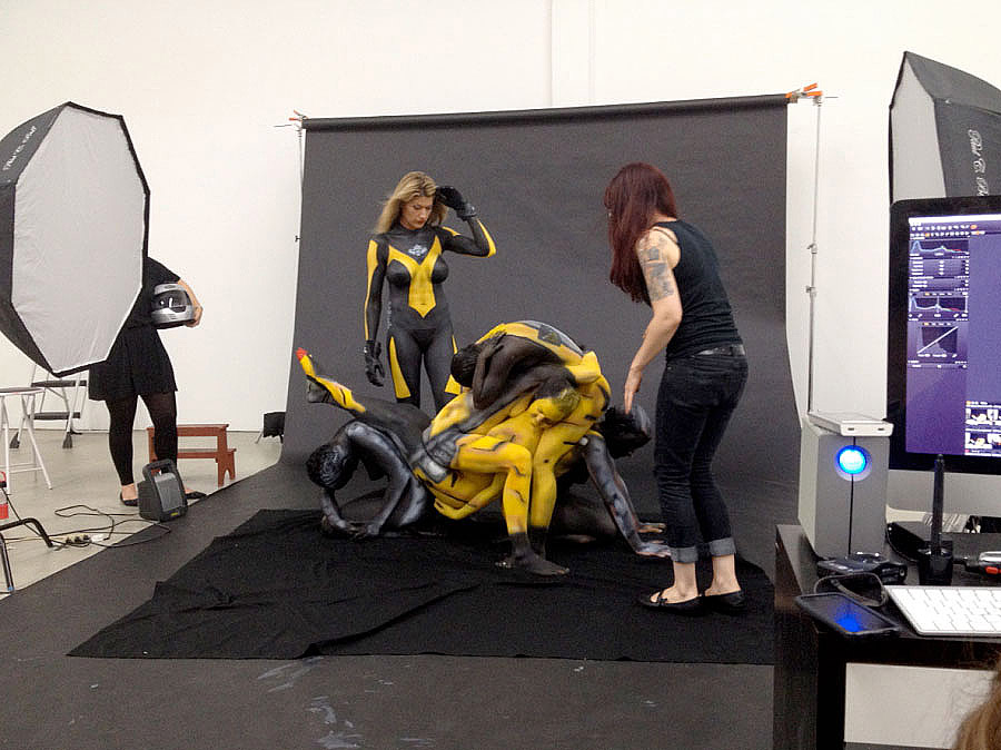 Human Motorcycles Made With Body Paint, Naked Women And -7193