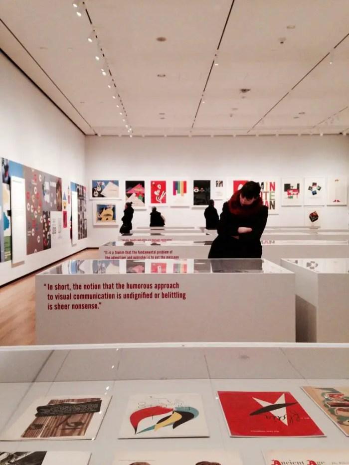 Paul Rand exhibit photo by @LangeAlexandra