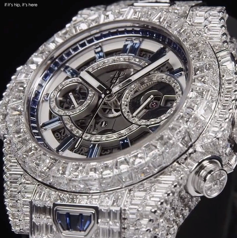 white diamond and sapphire 2015 hublot IIHIH