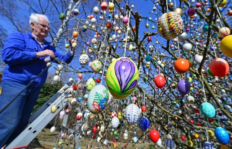 Ostereierbaum mit über 10.000 Eiern