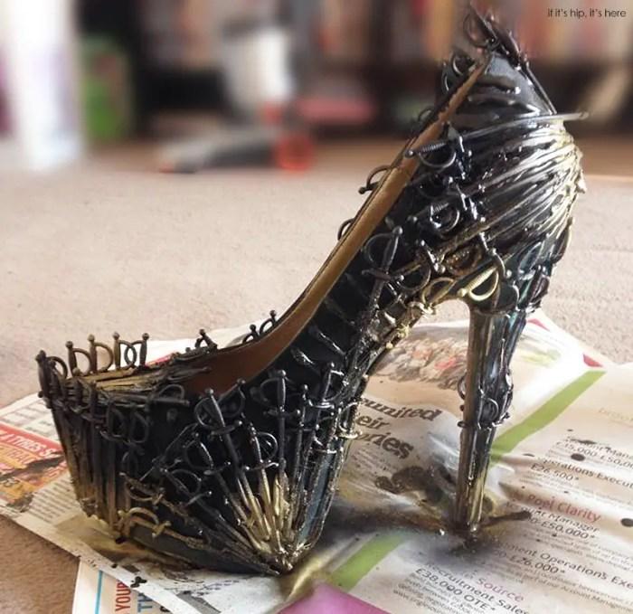 GoT heels on newspaper IIHIH