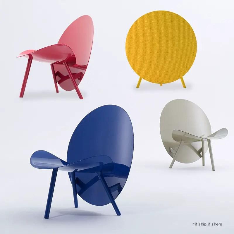 Halo colored carbon fiber chair