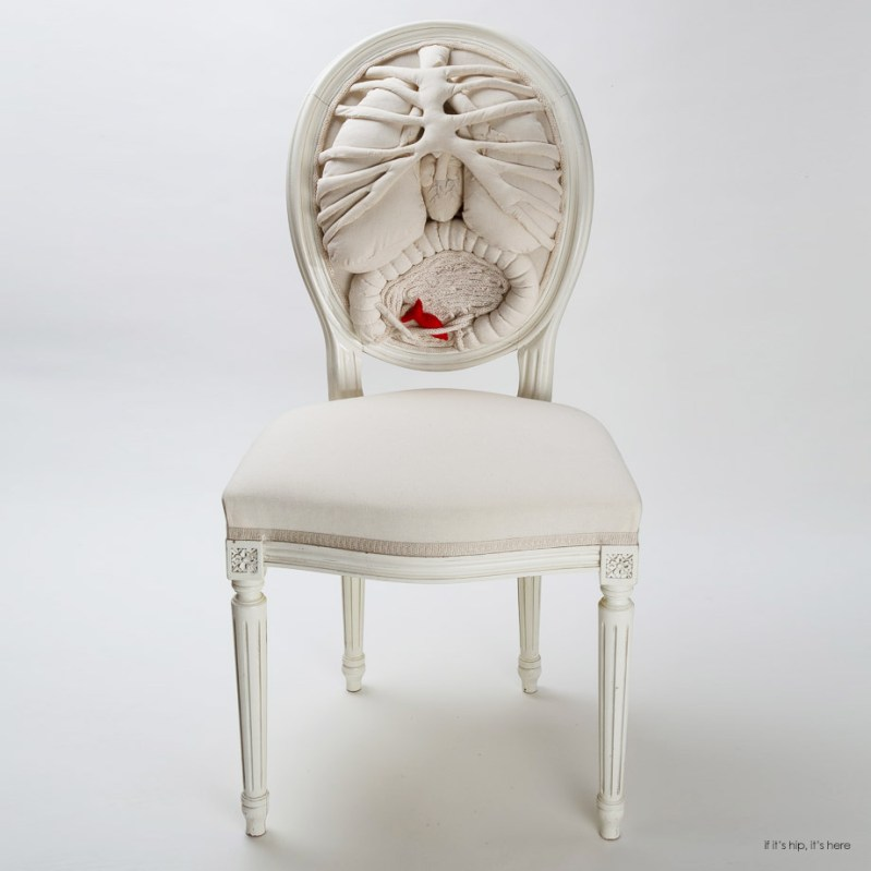 Textile Artist and Costume Designer Collaborate on The Anatomy Chair ...