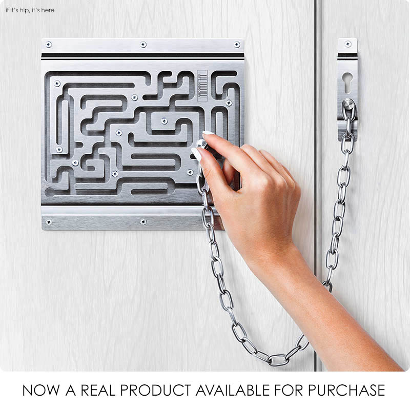 The Brilliant Maze Door Chain Lock Finally Comes To Life As A Real ...