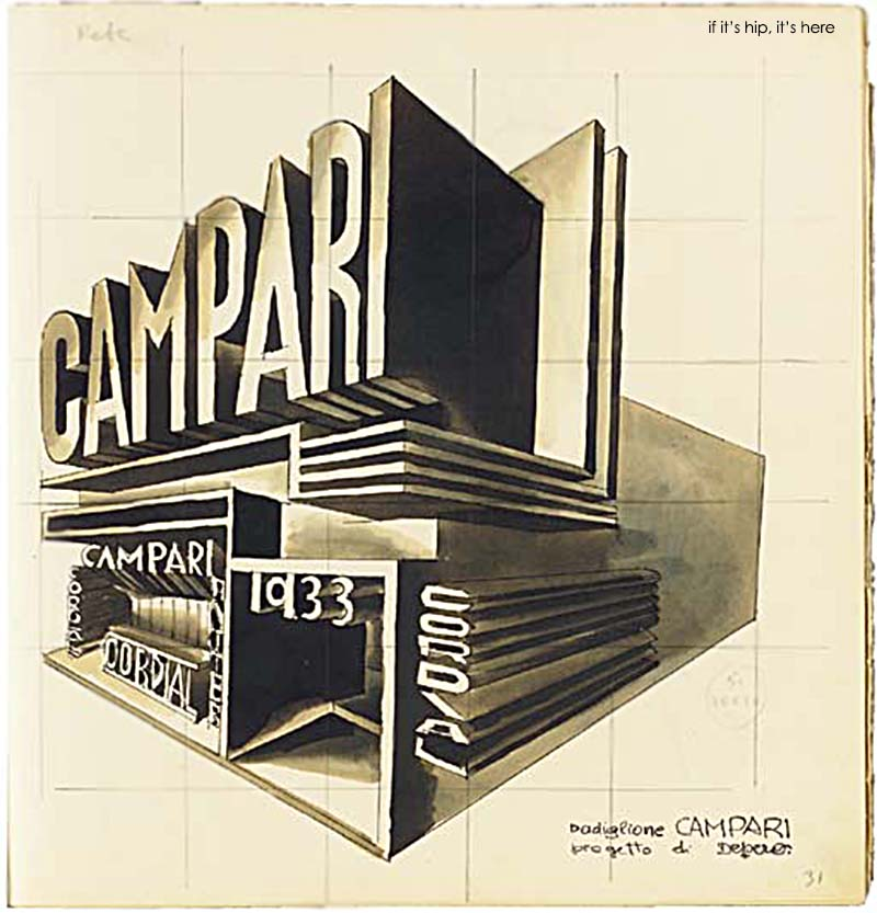 1931 Campari pavilion drawing christies IIHIH
