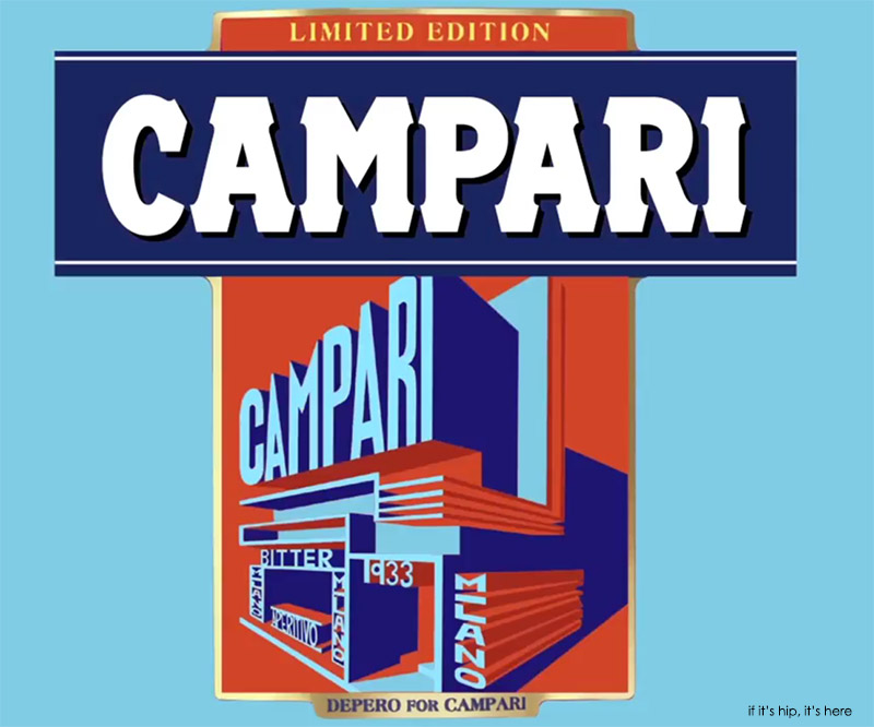 Campari 2015 Art Label Despero blue IIHIH