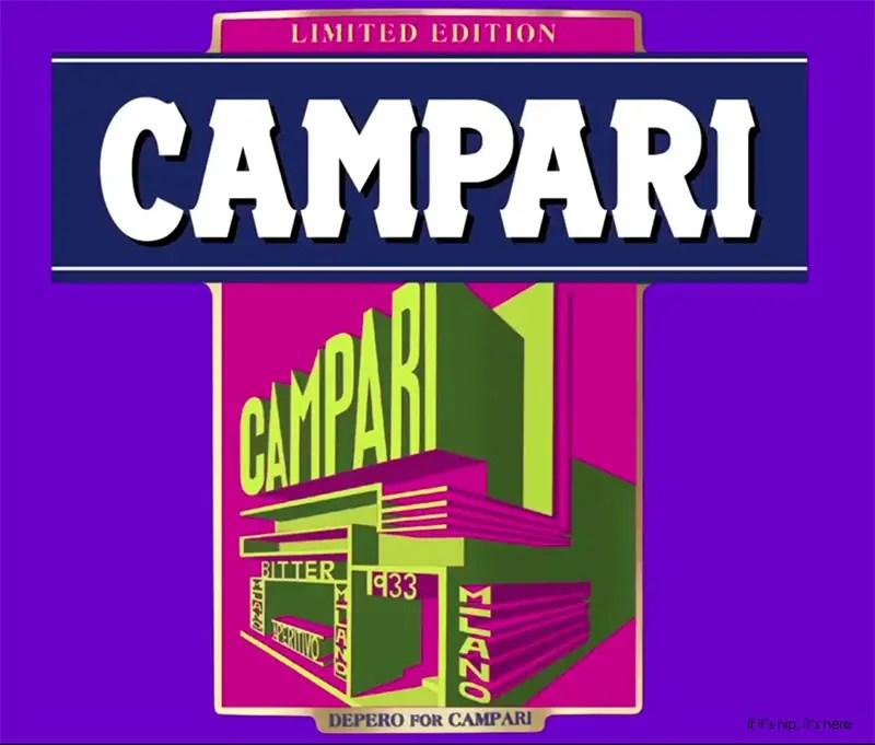 Campari 2015 Art Label Despero pink green IIHIH