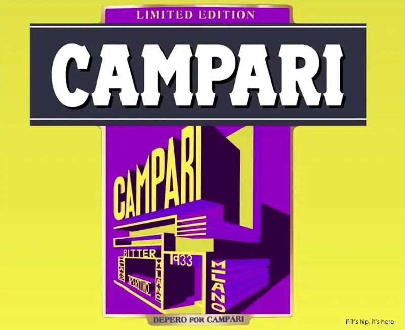 Campari 2015 Art Label Despero yellow IIHIH