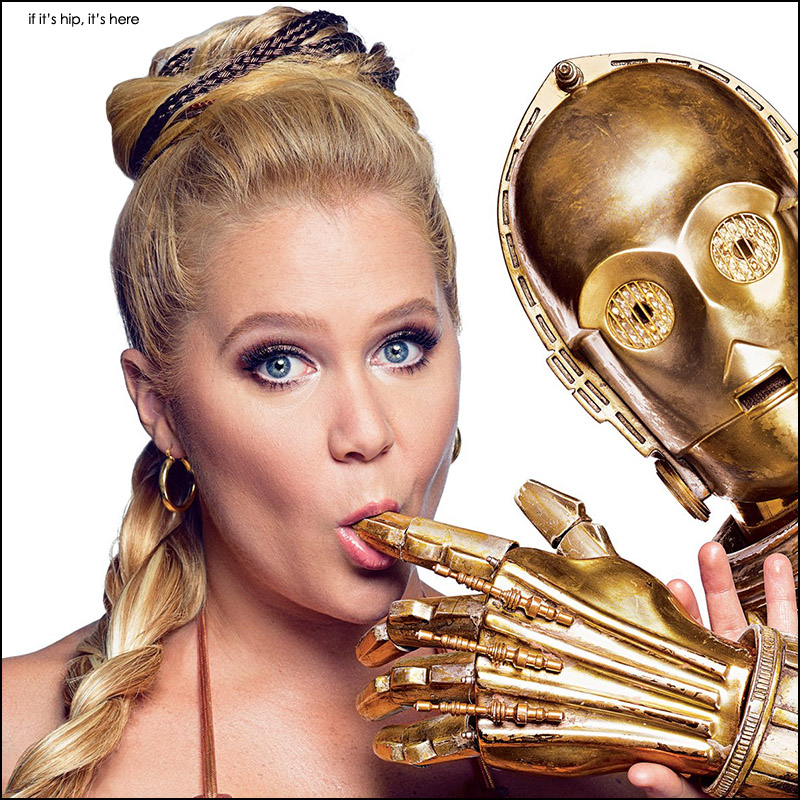 Amy Schumer as Princess Leia for GQ