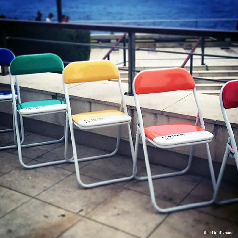 Pantone cafe chairs