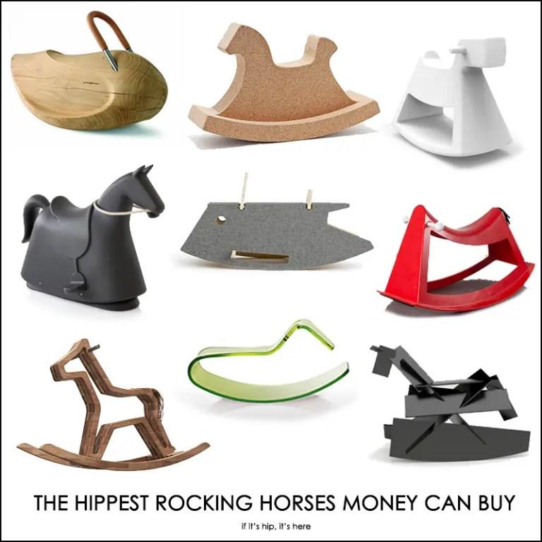 modern designer rocking horses