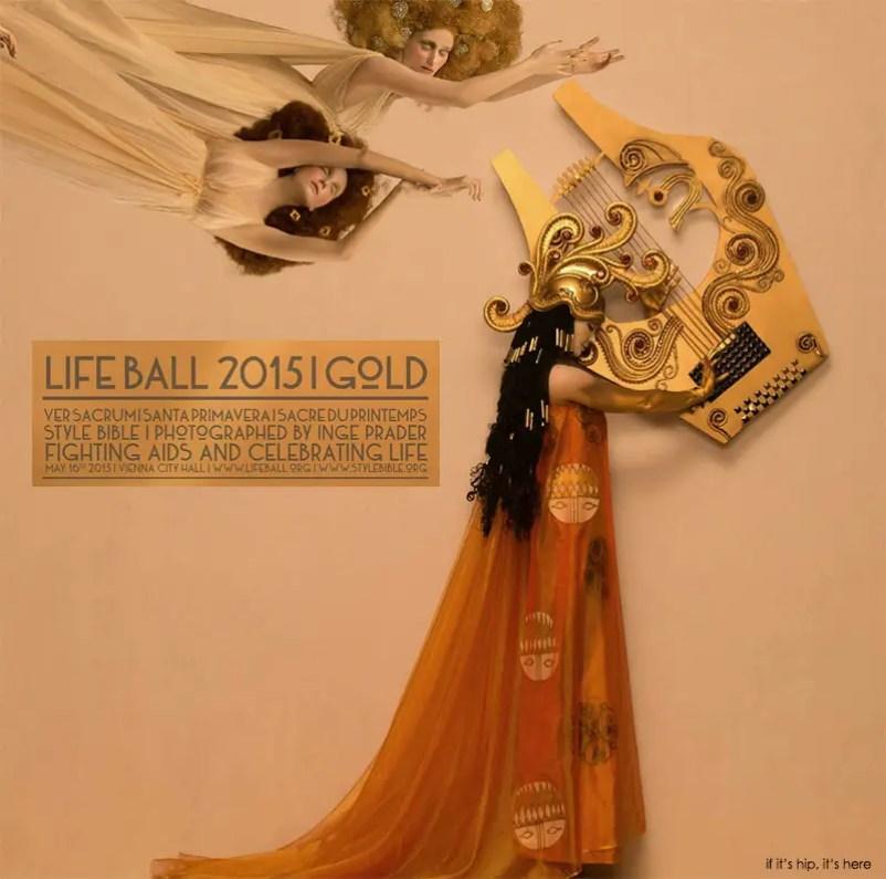 Gustav Klimt lifeball 2015 gold