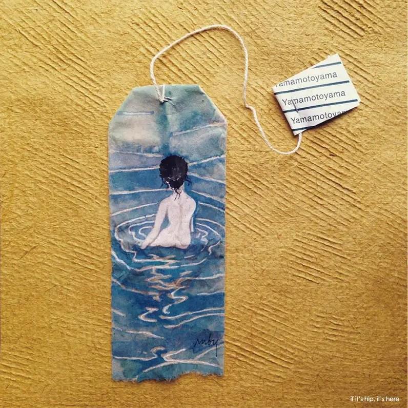 Day 196 tea bag painting