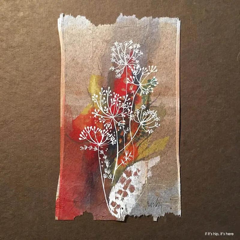 tea bag paintings