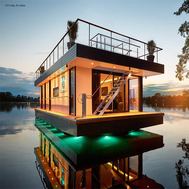 Eco friendly rev house houseboats are floating luxury for Eco friendly water systems for homes