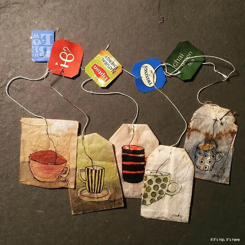 teabag paintings