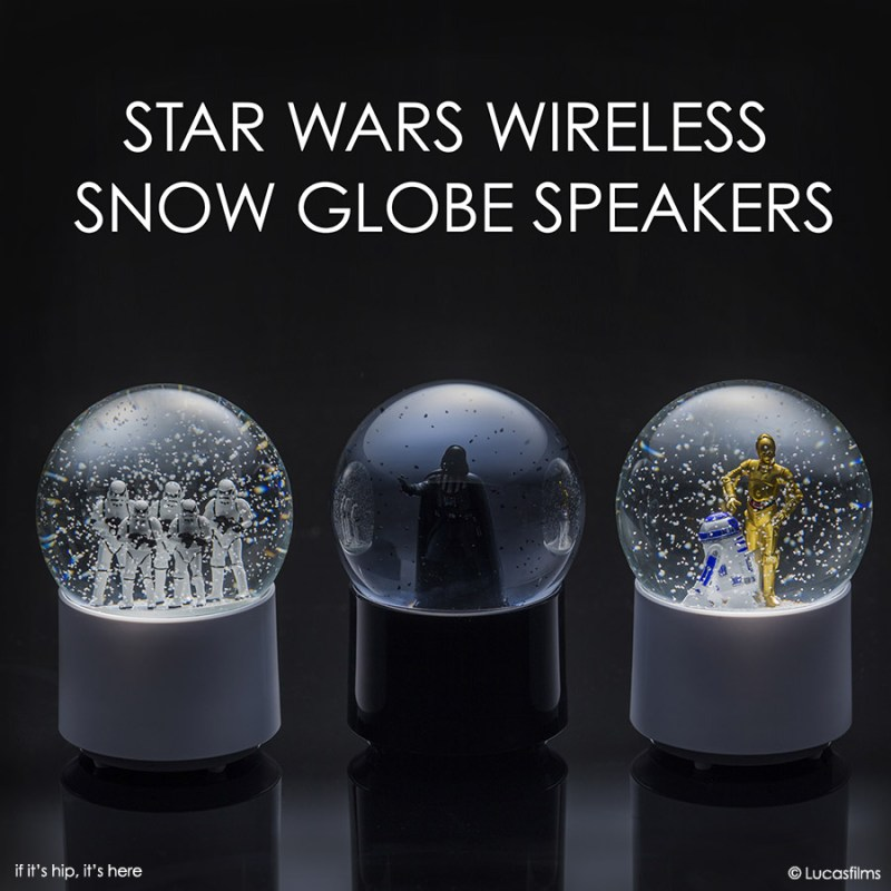 star wars wireless snow globe speakers