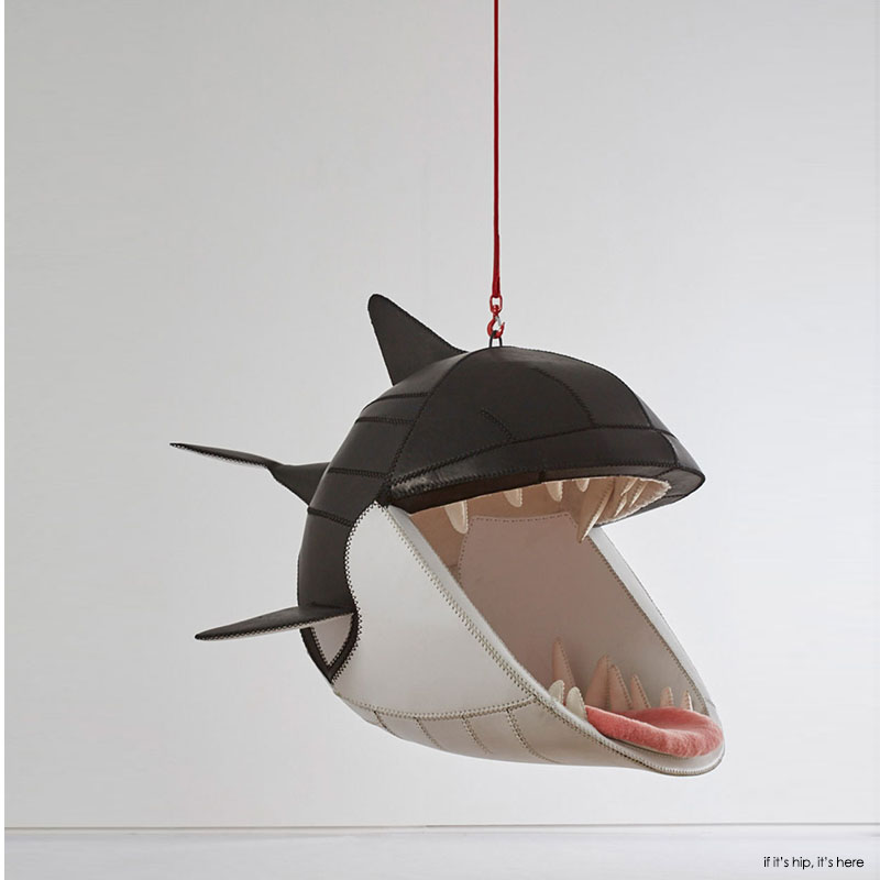 Fiona shark hanging chair by porky hefer 1