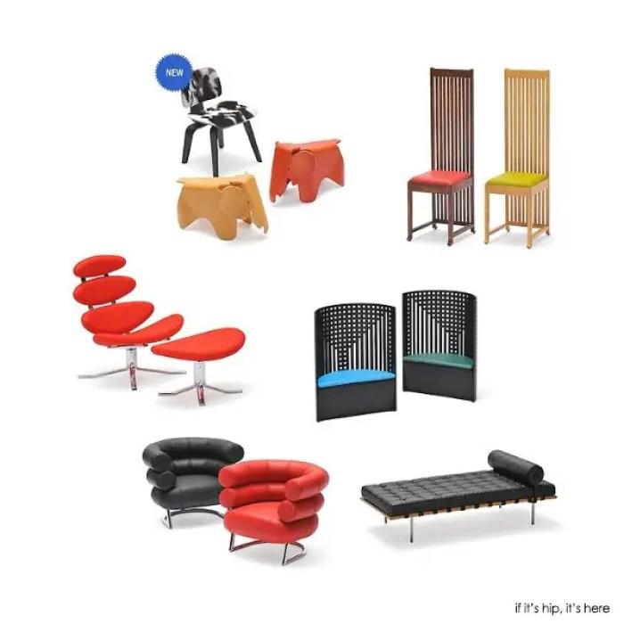 REAC miniature chair set