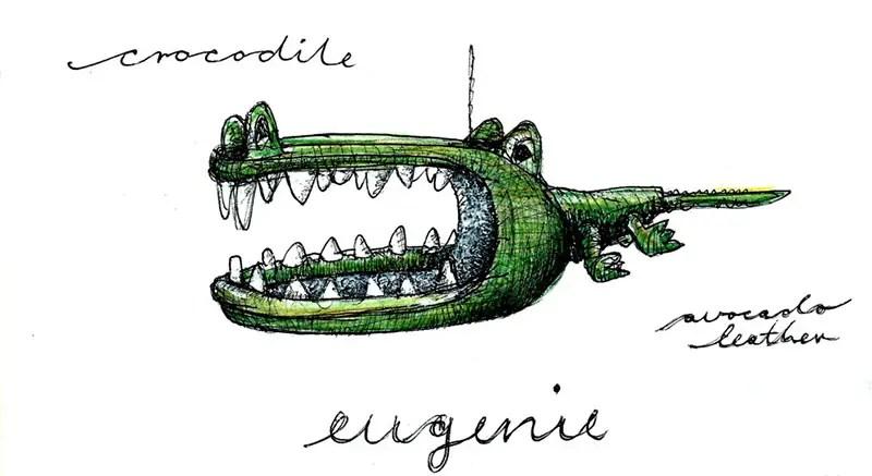 eugenie crocodile sketch