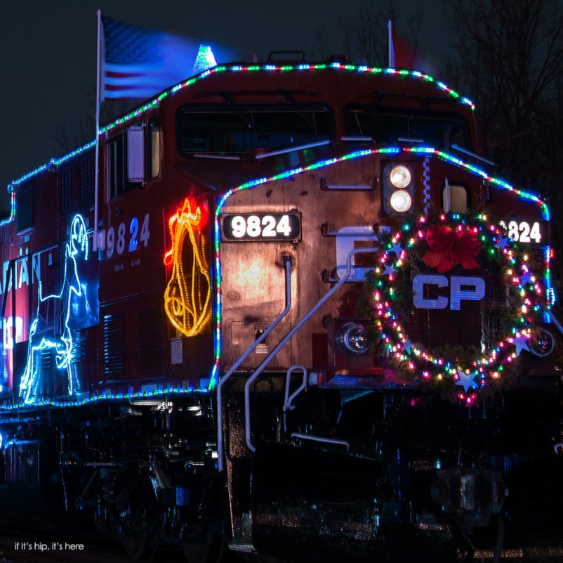 front of holiday train