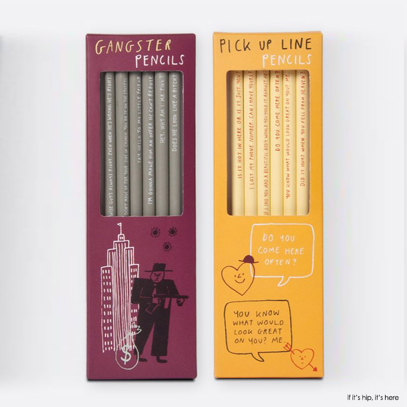 gangster and pick up lines pencil sets