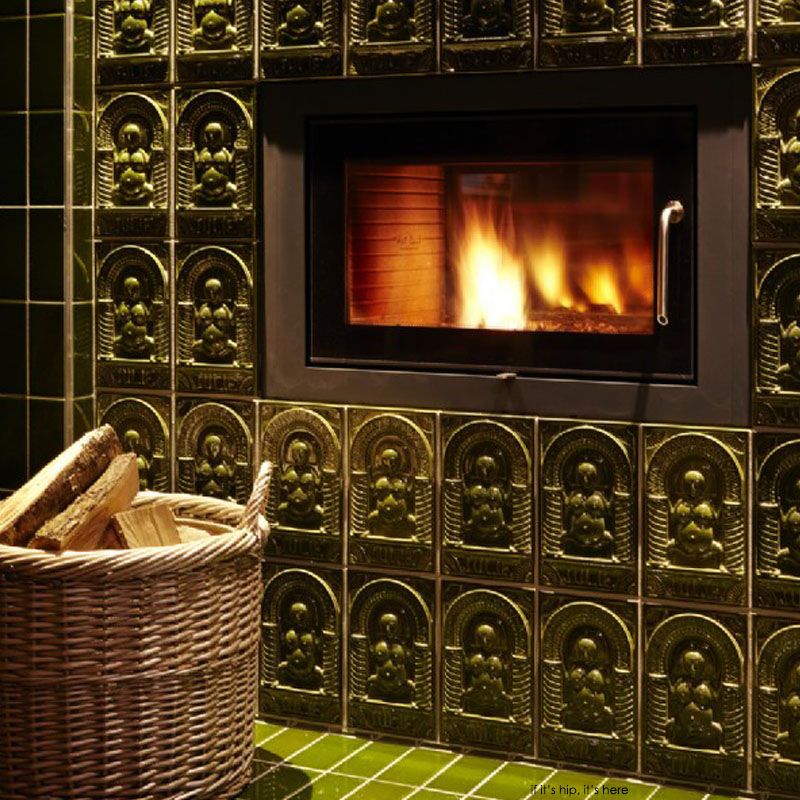 a house for essex wood burning fireplace detail