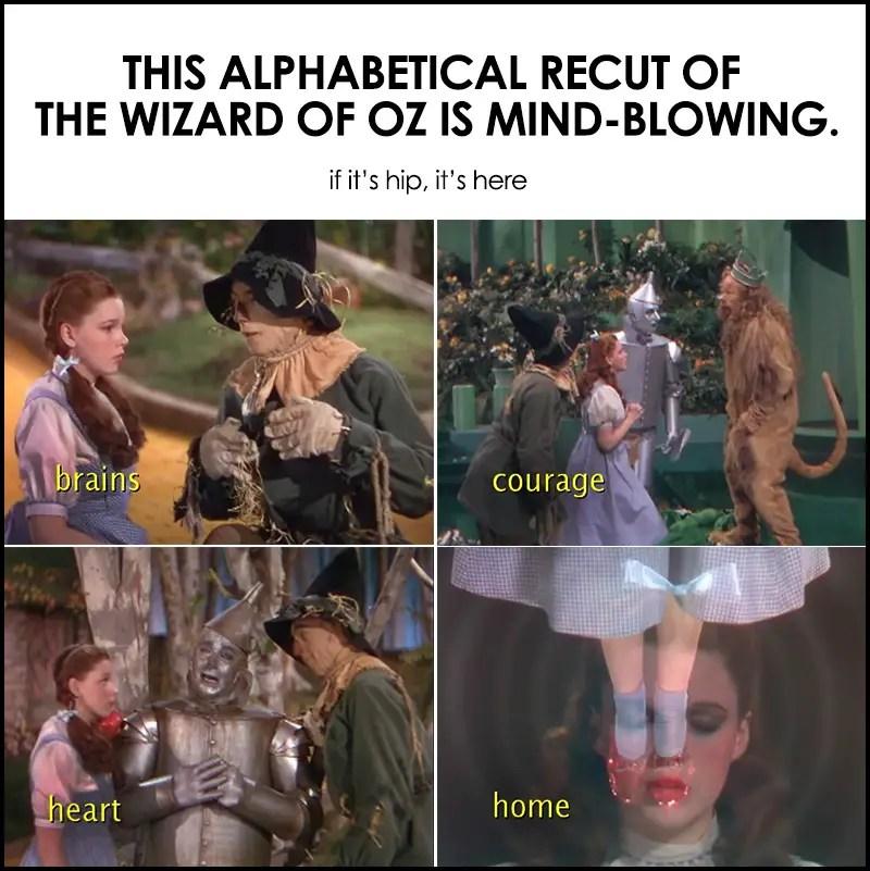 alphabetical recut of the wizard of oz
