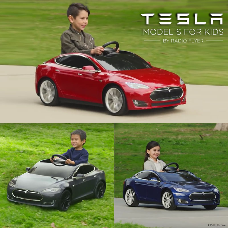 Radio Flyer Tesla S Model for kids trio