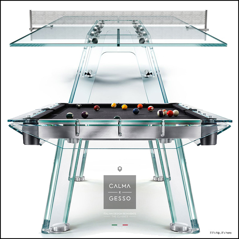 Calma E Gesso Adds Elegance To Billiard And Ping Pong Tables