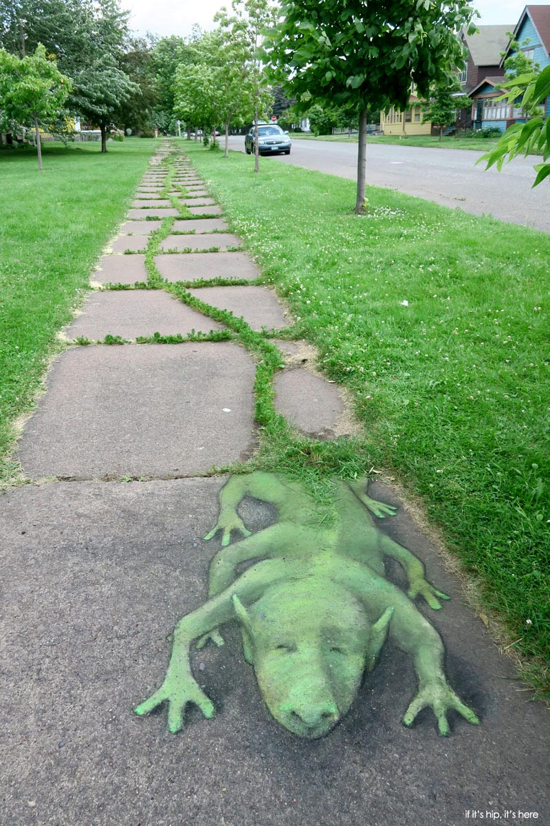 Street Artist David Zinn Charms With Chalk If It S Hip