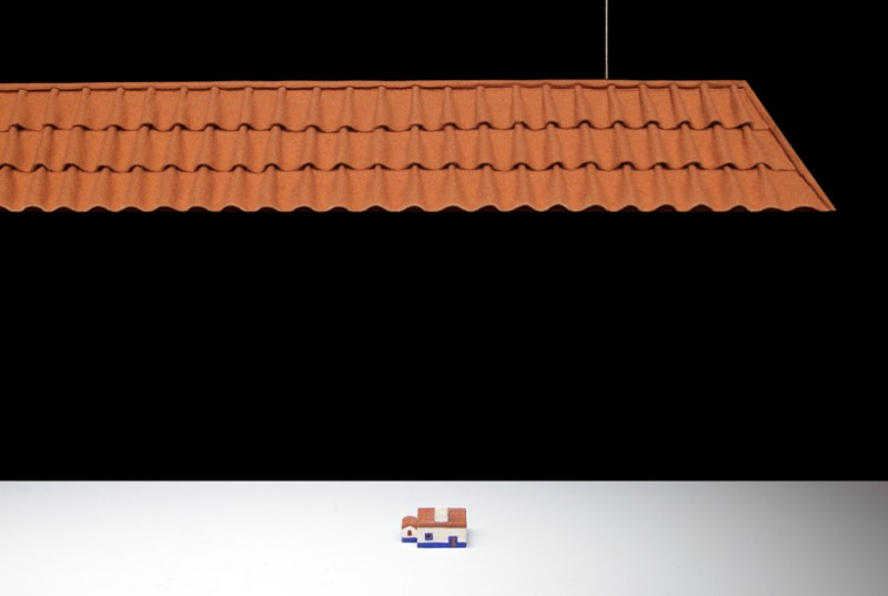 roof tiles lamp by luis nascimento