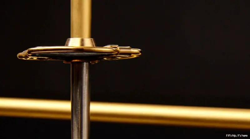 14k gold plated ski poles
