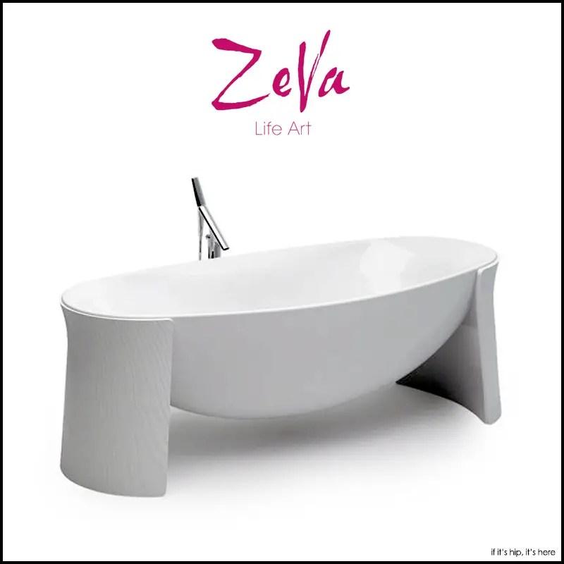 the zeva floating bathtub if it 39 s hip it 39 s here. Black Bedroom Furniture Sets. Home Design Ideas