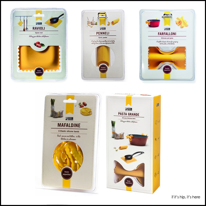 MKB silicone pasta kitchen tools package design