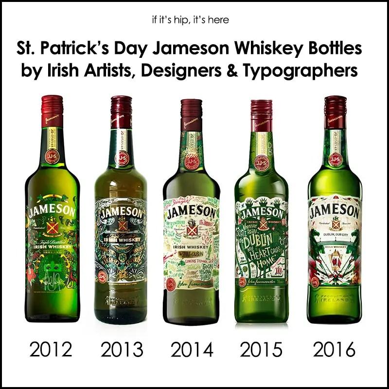 St. Patrick's Day Jameson Whiskey Bottles