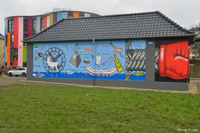 WSW building painted by MEGX