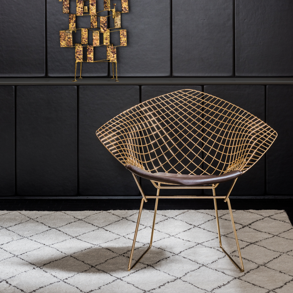 Bertoiau0027s Sonambient Sculptures Also Provided The Inspiration For The  Release Of The Bertoia Diamond Chair In Gold. Knoll Design Director  Benjamin Pardo ...