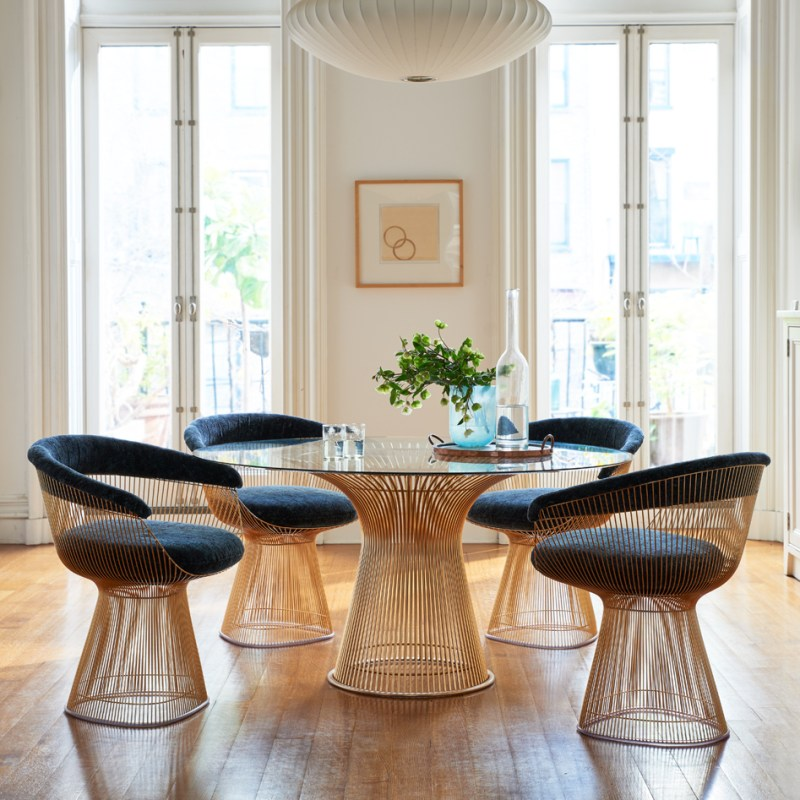 Knoll Releases 18k Gold Plated Versions Of Bertoia And
