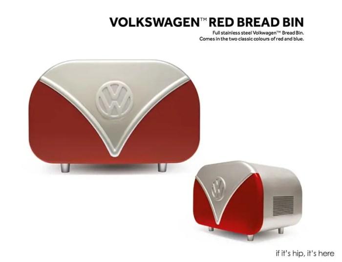 VW red bread bin