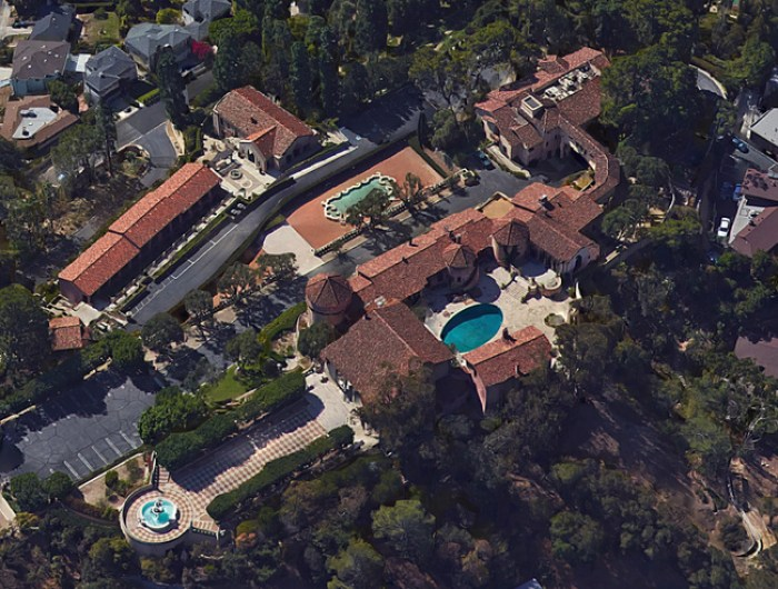 overhead view of the convent Katy Perry hopes to purchase