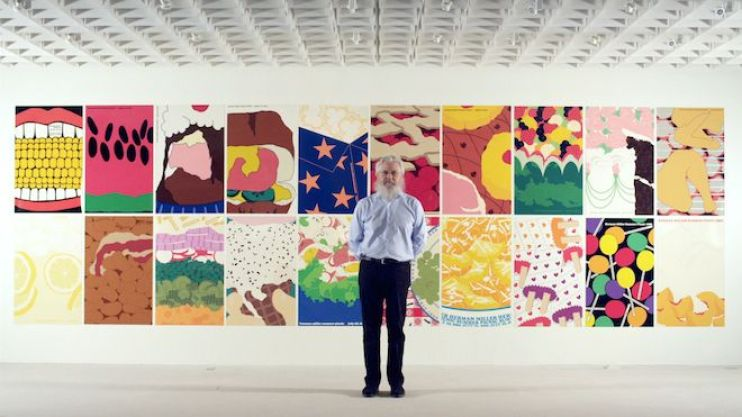 Now Herman Miller's Vice President of Creative Design, Steven Frykholm stands in front of his summer picnic posters
