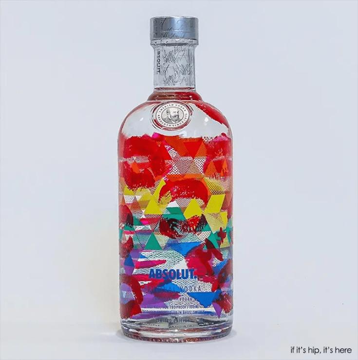 Munroe Bergdorf absolut bottle design
